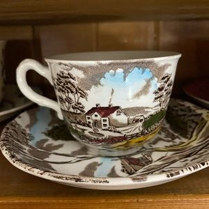 VINTAGE English Country Scene Duo
